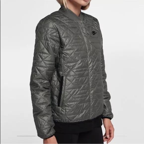 Nike Women Bomber Jacket  Size M  Military Green 6c8d74af7